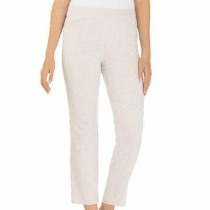 Hilary Radley Pull-On Striped Cropped Pants